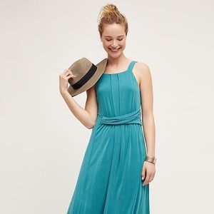 Anthropologie turquoise dress